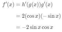 Equation 2: Derivative of cos^2x pt.5