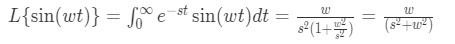 Laplace transform of sine pt.11