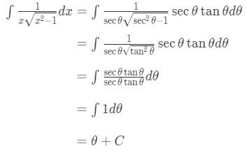 Equation 7: Trig Substitution of inverse sec pt.6