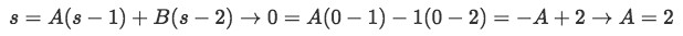 Equation when s = 0