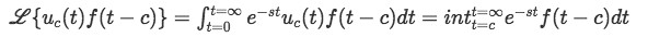 Laplace transform equation t greater than 0