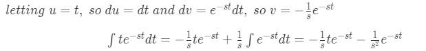 Laplace transform of t pt.1