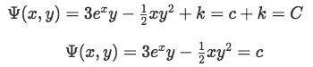 Final equation for Psi