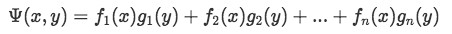 Psi function in terms of 2 variables (x and y)