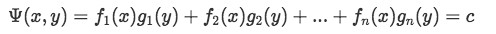 Function Psi is equal to a constant