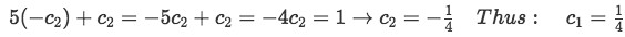 Equation 7(c-3):Finding the value of the two unknown constants