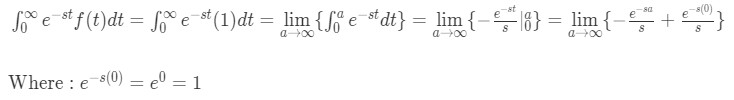 Question 1: Laplace transform of 1
