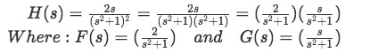 Equation for example 2(a): Separating the function in two factors