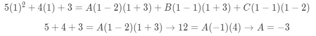 Equation for Example 4(d): Finding the value of A