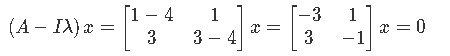 Finding the eigenvectors