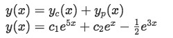 Equation 7(c): General solution of the nonhomogeneous differential equation (equation 7)