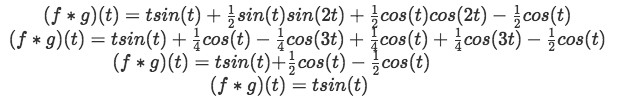 Equation for example 2(i): Solving the convolution integral (part 2)