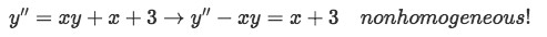 Equation 4(b): Example of a nonhomogeneous differential equation